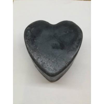 Charcoal Handmade Soap (Love shape)