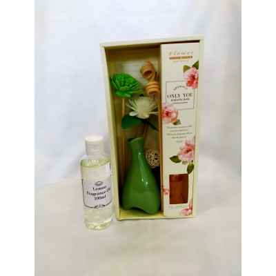 Room Fragrance with Rattan Flower (No Fire)+100ml fragrance refill