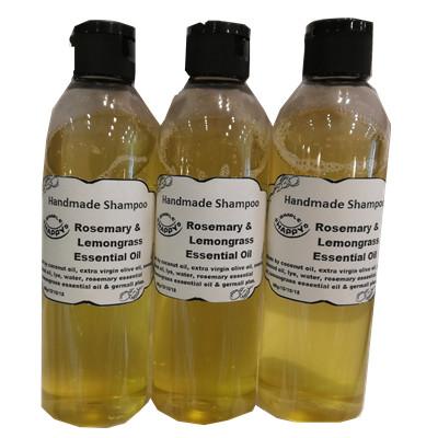 Handmade Shampoo with Rosemary & Lemongrass Essential Oil