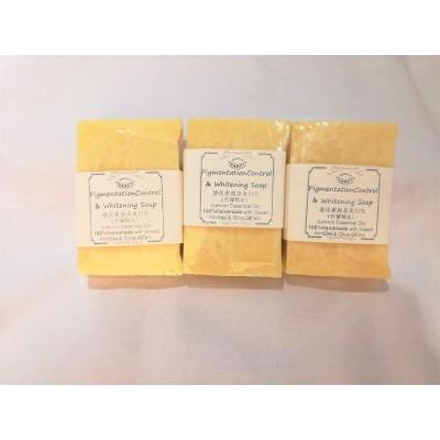 Pigmentation Control Handmade Soap with lemon essential oil Free bubble net