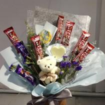 Chocolate Handmade Soap Bouquet