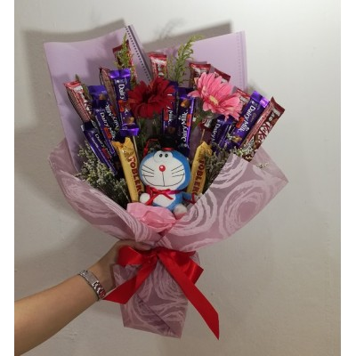 Chocolate Flower Bouquet with LED lights