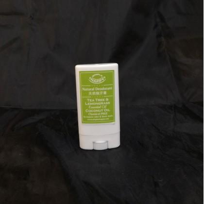 100% Natural Deodorant with Tea Tree & Lavender/Lemongrass Essential Oil