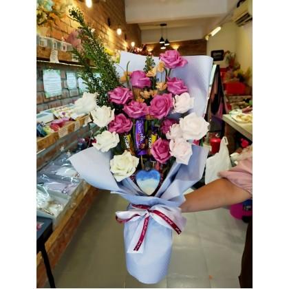 Chocolate Flower + Handmade Soap Bouquet