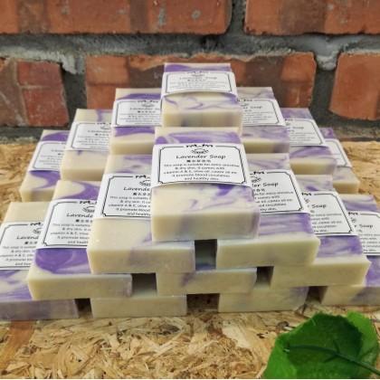 Lavender Essential Oil Handmade Soap Free bubble net