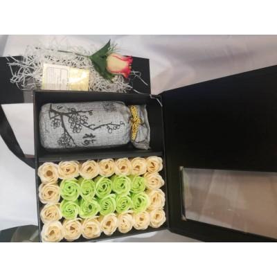 Premium Rose Soap Flower Box Set