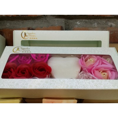 Mothers' Day Soap Flowers Gift Box -Peppermint/Rose Geranium Handmade Soap