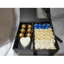 Premium Soap Flower & Ferrero Rocher Chocolate Box for Mothers' Day