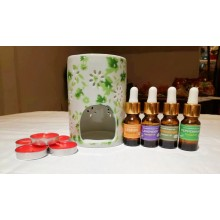 Essential Oil Burner Set- Free candles