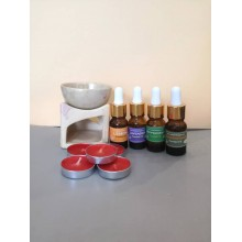 Essential Oil Burner(small)+10ml Pure Essential Oil -Free candles
