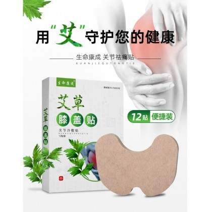 Pain Patch for knee with mugwort and other herbals (12 pcs in 1 box) 艾叶贴