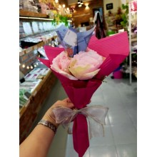 Cash flower with artificial roses RM1*3pcs