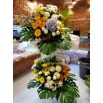 Condolences flower-Double layer