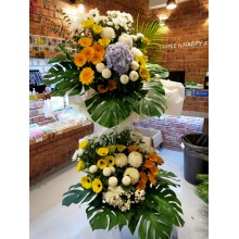 Condolences flower-Double layer