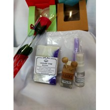 Fathers' Day Gift Set-100g Essential Oil Soap, Car diffuser etc Free Soap Flower & gift box