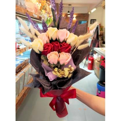 Soap Flower Bouquet-10 pcs (L Size)