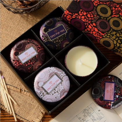 Aroma Candle Gift Set 4 in 1 (Fruitty & Flowery)